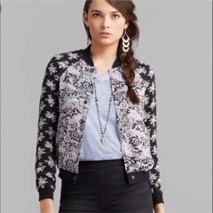 Free People Floral Patterned Bomber Jacket